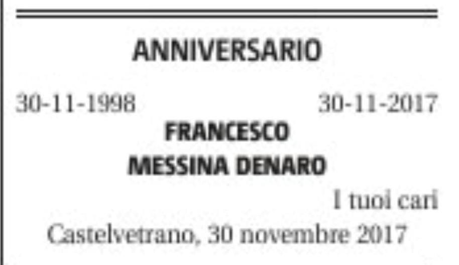 Palermo, pubblicato necrologio sul padre di Matteo Messina Denaro