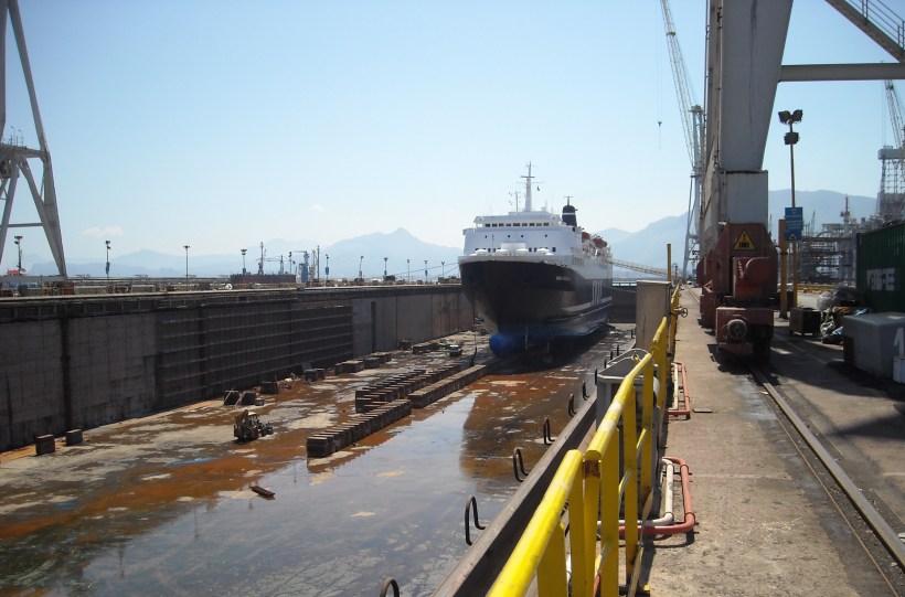 Fincantieri Palermo, al via le operazioni per lo svuotamento del bacino di carenaggio