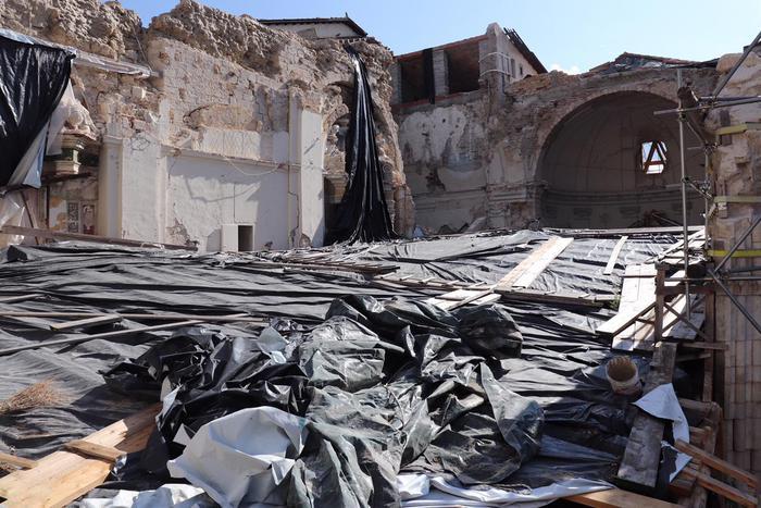 """Ricordato a Norcia il terremoto che tre anni fa colpì l'Italia centrale, Tesei: """"Ora acceleriamo la ricostruzione"""""""