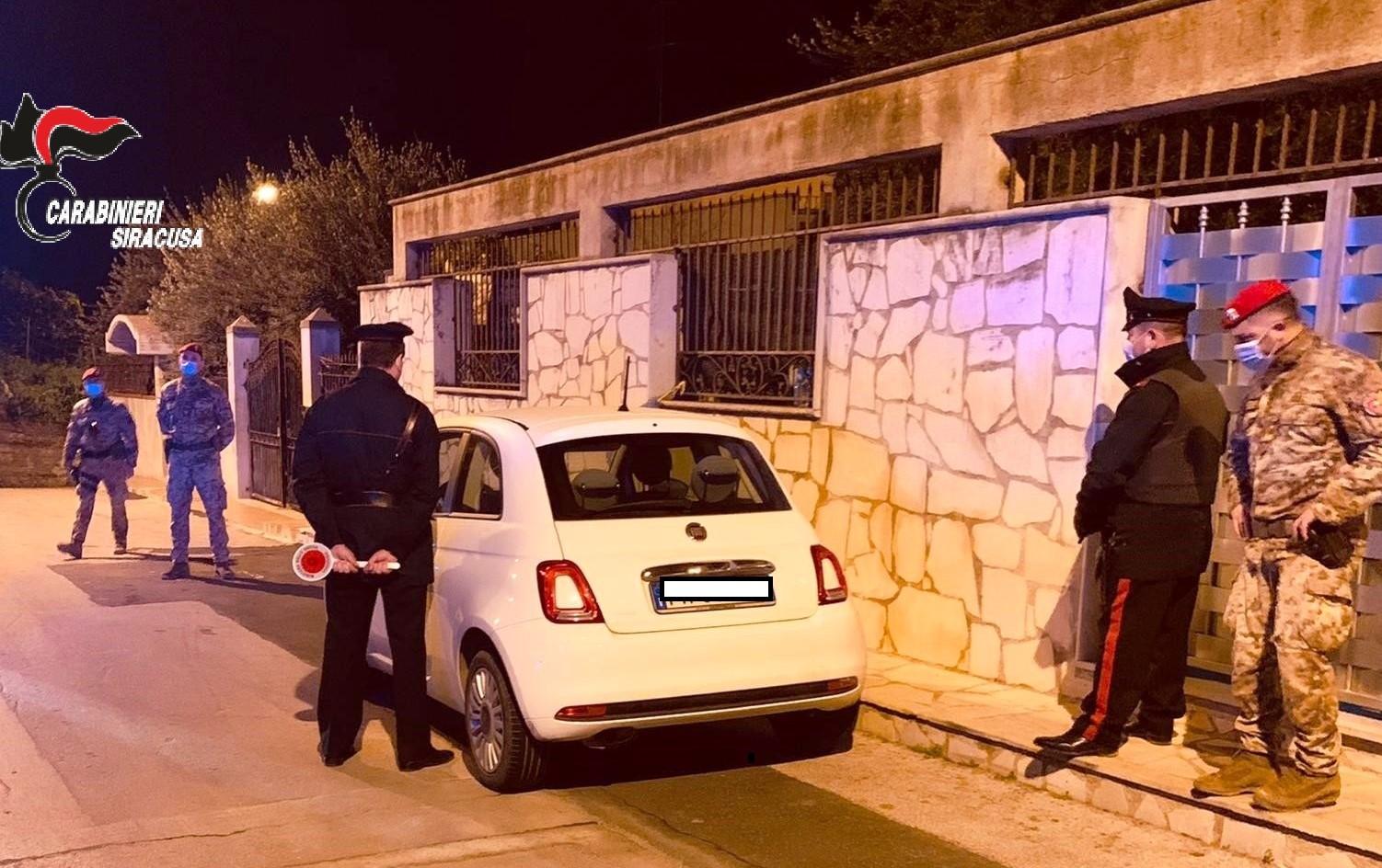 Noto, controlli straordinari dei carabinieri: denunciate quattro persone