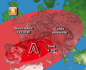 Novembre da record, mai così caldo negli ultimi 50 anni