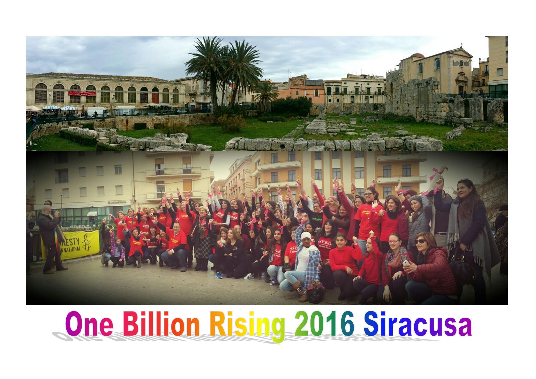"Siracusa, grande partecipazione al ""One Billion Rising: Revolution"""