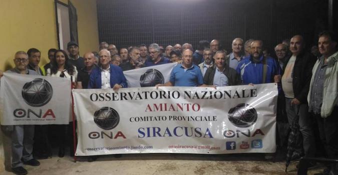 Morti per l'amianto, sit-in dell'Ona a Siracusa