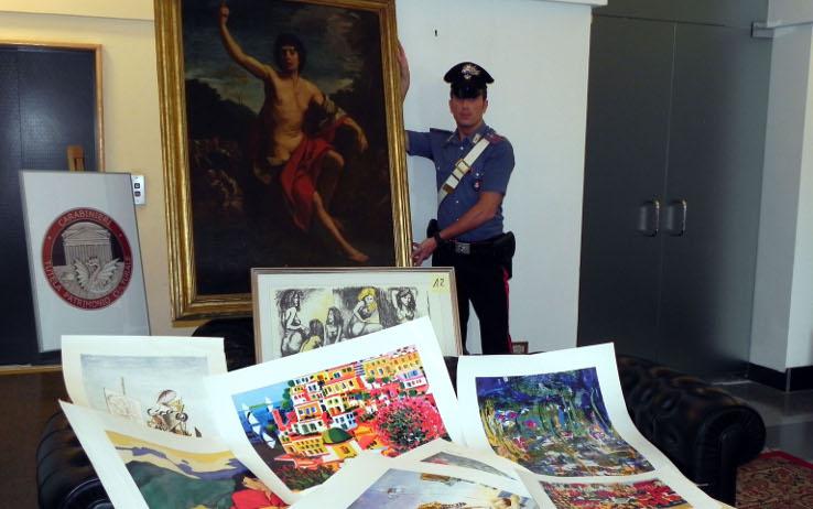 Palermo, false opere d'arte vendute sul web: sei denunciati