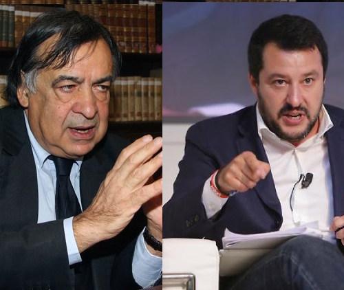 Migranti: scontro tra Leoluca Orlando e Salvini, minacce di querela
