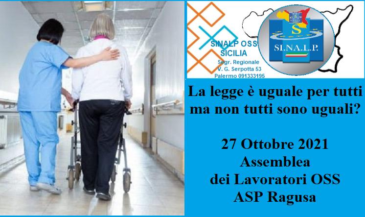 Ragusa, la protesta dei precari Asp: il 27 ottobre assemblea dei lavoratori