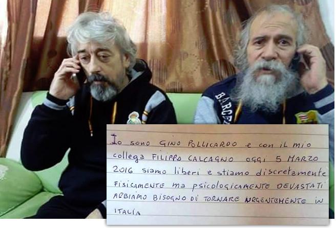 Liberati gli altri due ostaggi Italiani in Libia