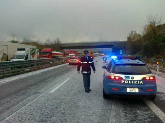 Neve sulla Palermo-Catania nel tratto tra Scillato e Agira