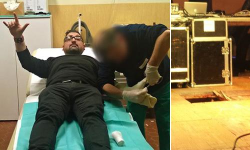 Al Carnevale di Palazzolo Roy Paci cade e si frattura la mano