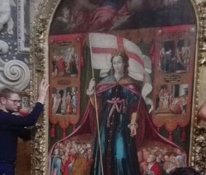 Palermo, la pala di Sant'Orsola torna sull'altare della chiesa del Santissimo Salvatore
