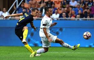 Il Palermo esce indenne da San Siro: l'Inter costretta al pareggio  (1 - 1)