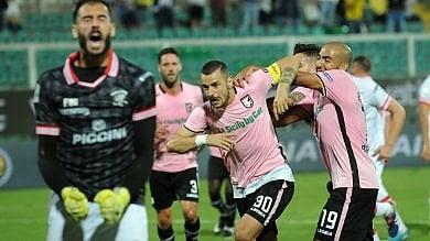 Il Palermo vince a fatica contro un forte Perugia : decisivo un rigore