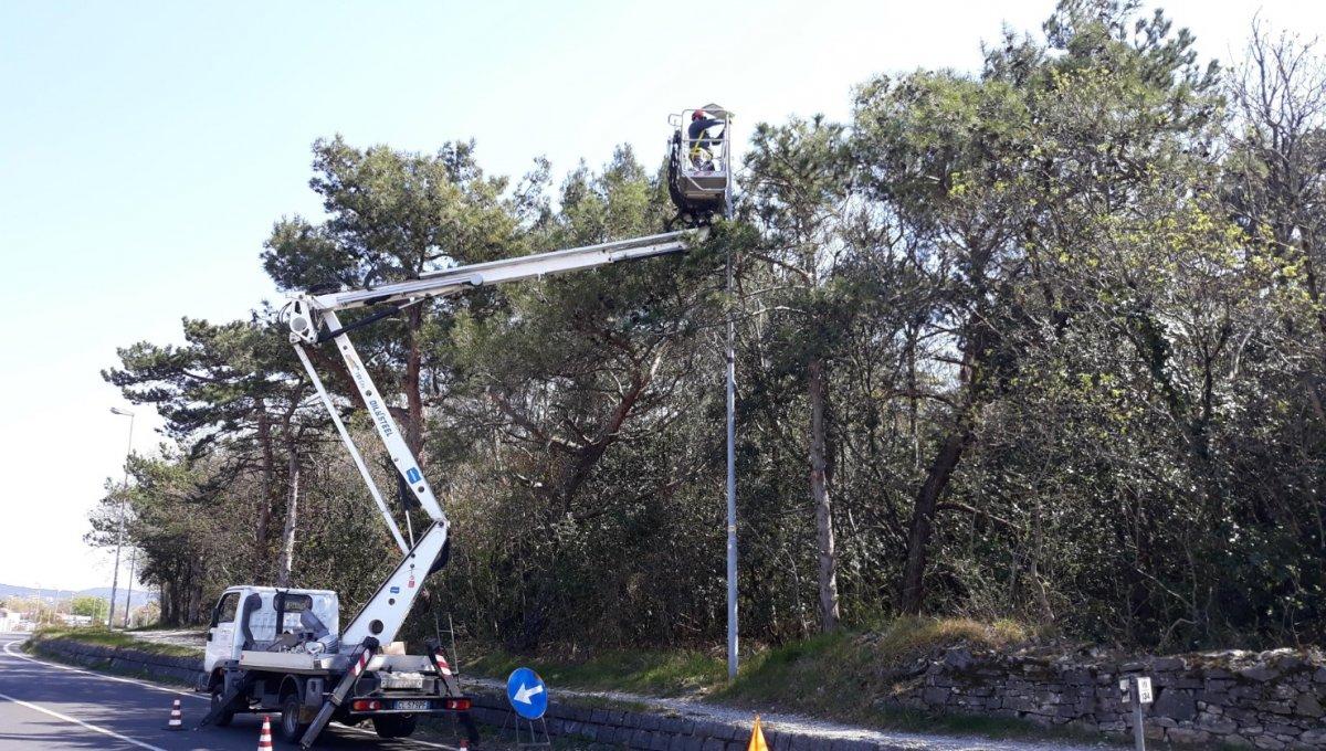 Modica, nidi di uccelli in pali illuminazione: sospesi i lavori su impianti fotovoltaici