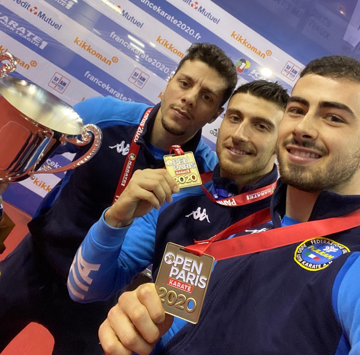 Karate, il vittoriese Giuseppe Panagia bronzo con la Nazionale italiana a Parigi