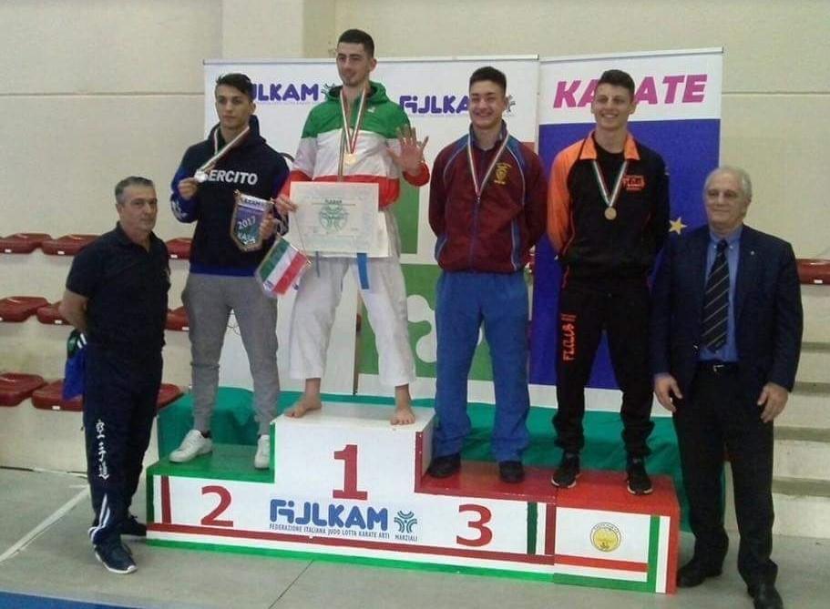 Karate, medaglia d'oro per il vittoriese Panagia ai Campionati italiani