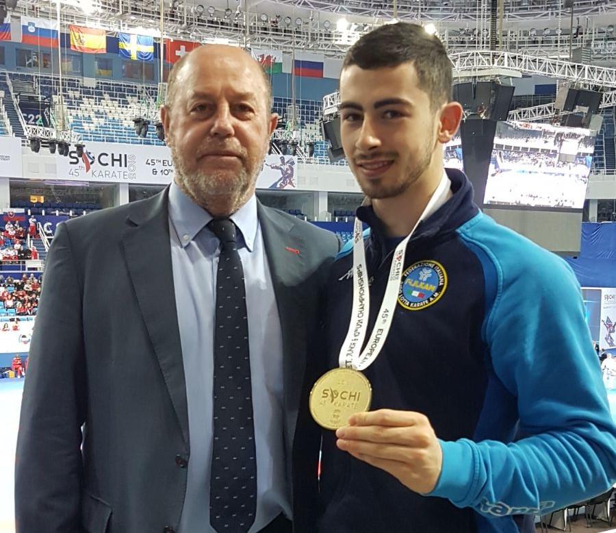 Karate, il vittoriese Giuseppe Panagia oro agli Europei Under 21