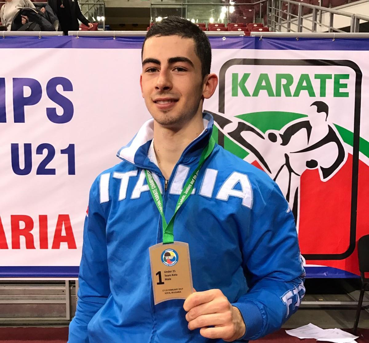 Karate, oro a squadre per il vittoriese Giuseppe Panagia agli Europei di Sofia