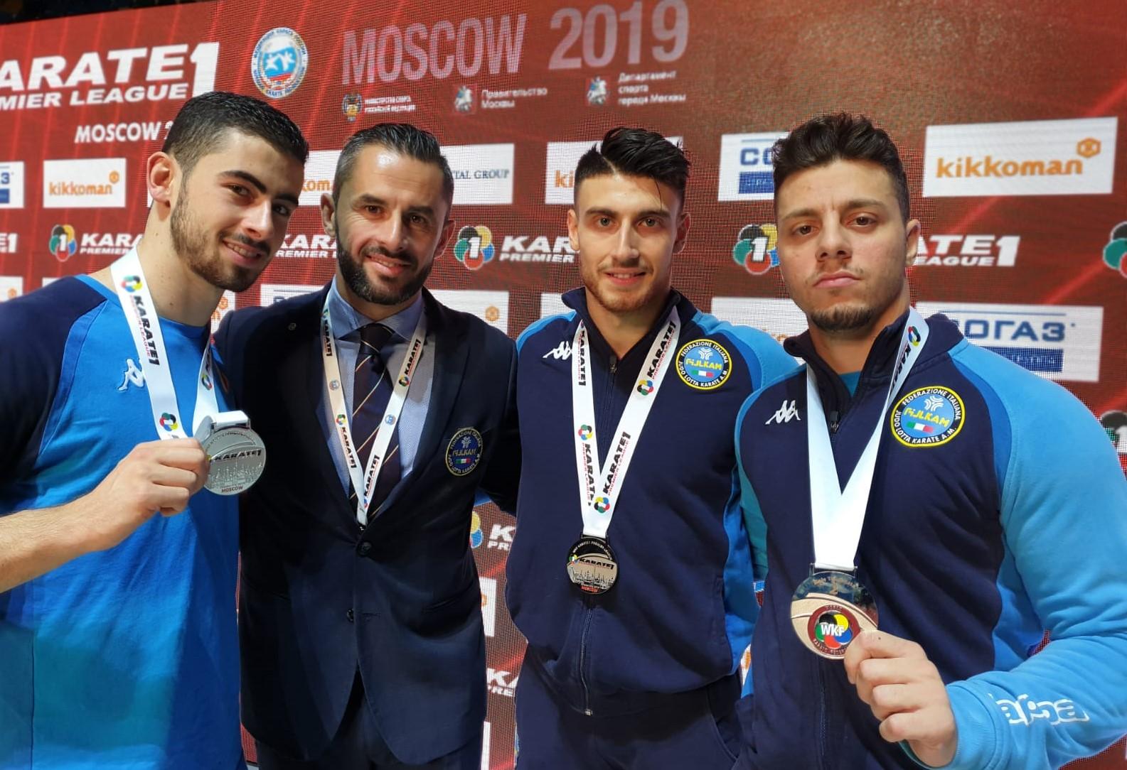 Karate, il vittoriese Giuseppe Panagia argento a Mosca con la nazionale italiana