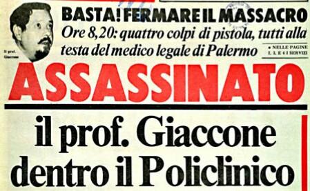 Mafia, 37 anni ucciso Paolo Giaccone: Palermo lo ricorda