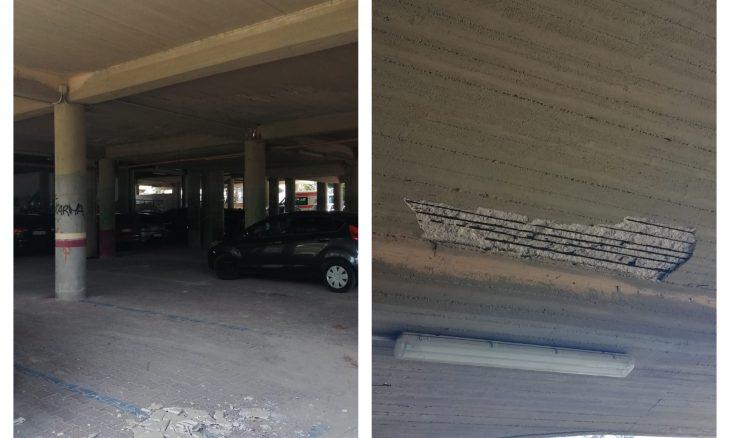 Siracusa, chiuso il parcheggio di Fontane Bianche per paura di crolli