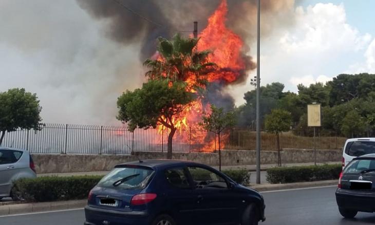 Incendio vicino al Parco archeologico di Siracusa: chiuse due strade