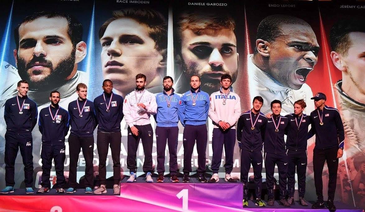 Scherma,Coppa del Mondo: a Parigi Giorgio Avola conquista l'oro a squadre