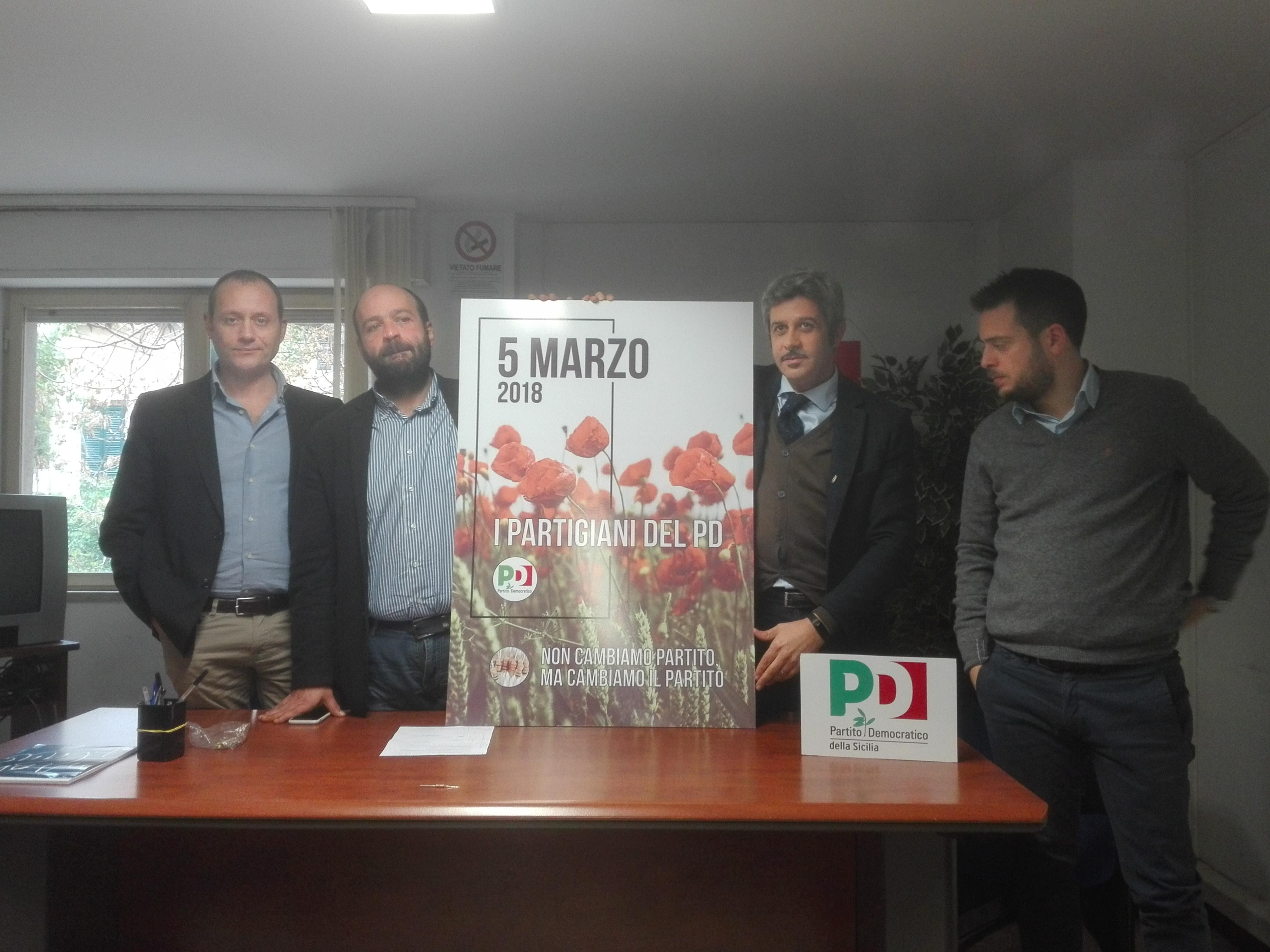 """In Sicilia nasce il movimento """"I partigiani del partito democratico"""""""