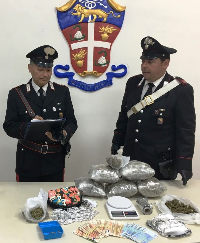 Paternò, sequestrati 3 chili di marijuana: due arresti