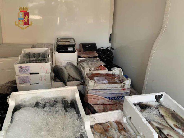 Brolo, sequestrati 170 chili di pesci dalla Polstrada