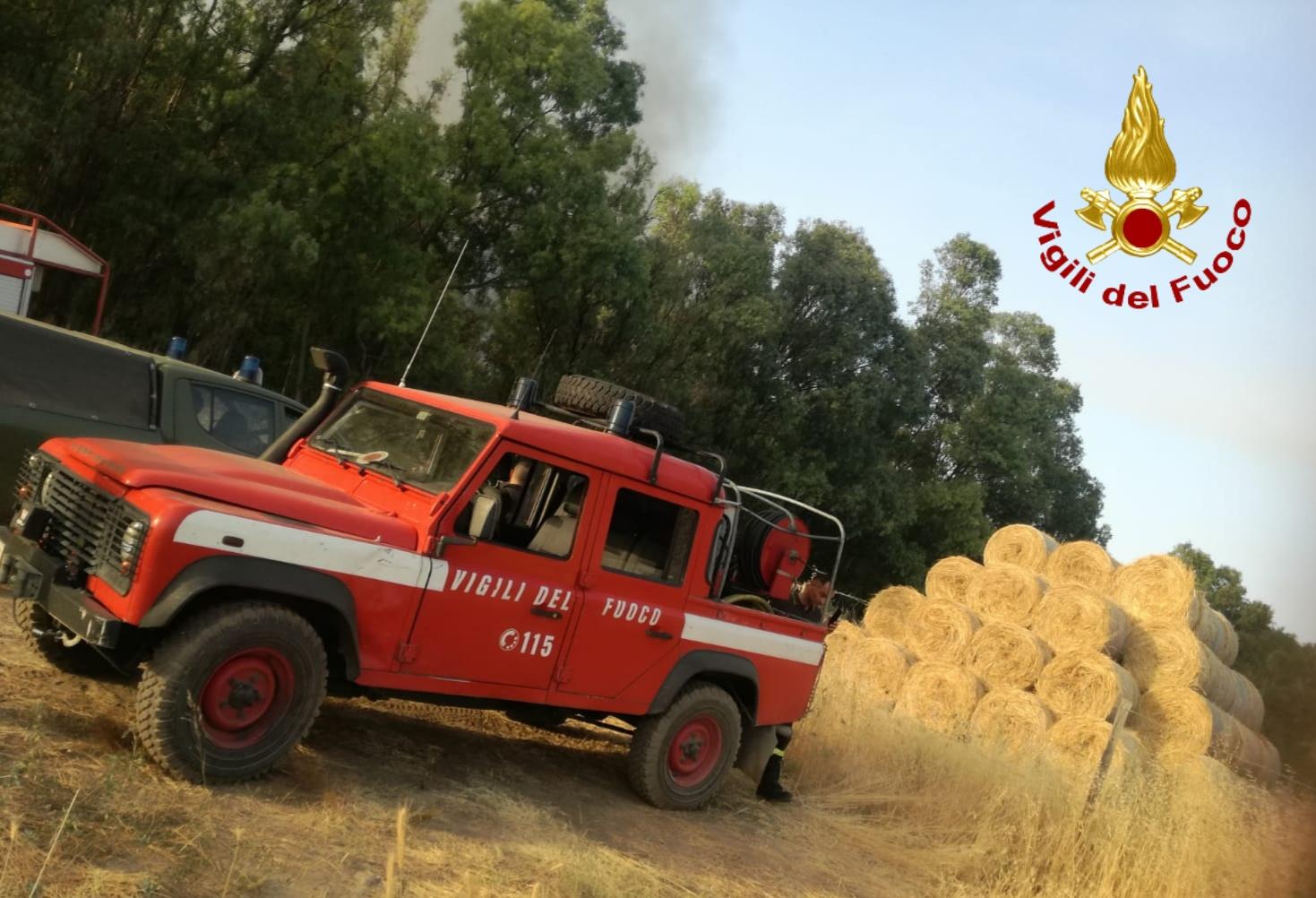Ricevimento di nozze a rischio per un incendio a San Michele Ganzaria
