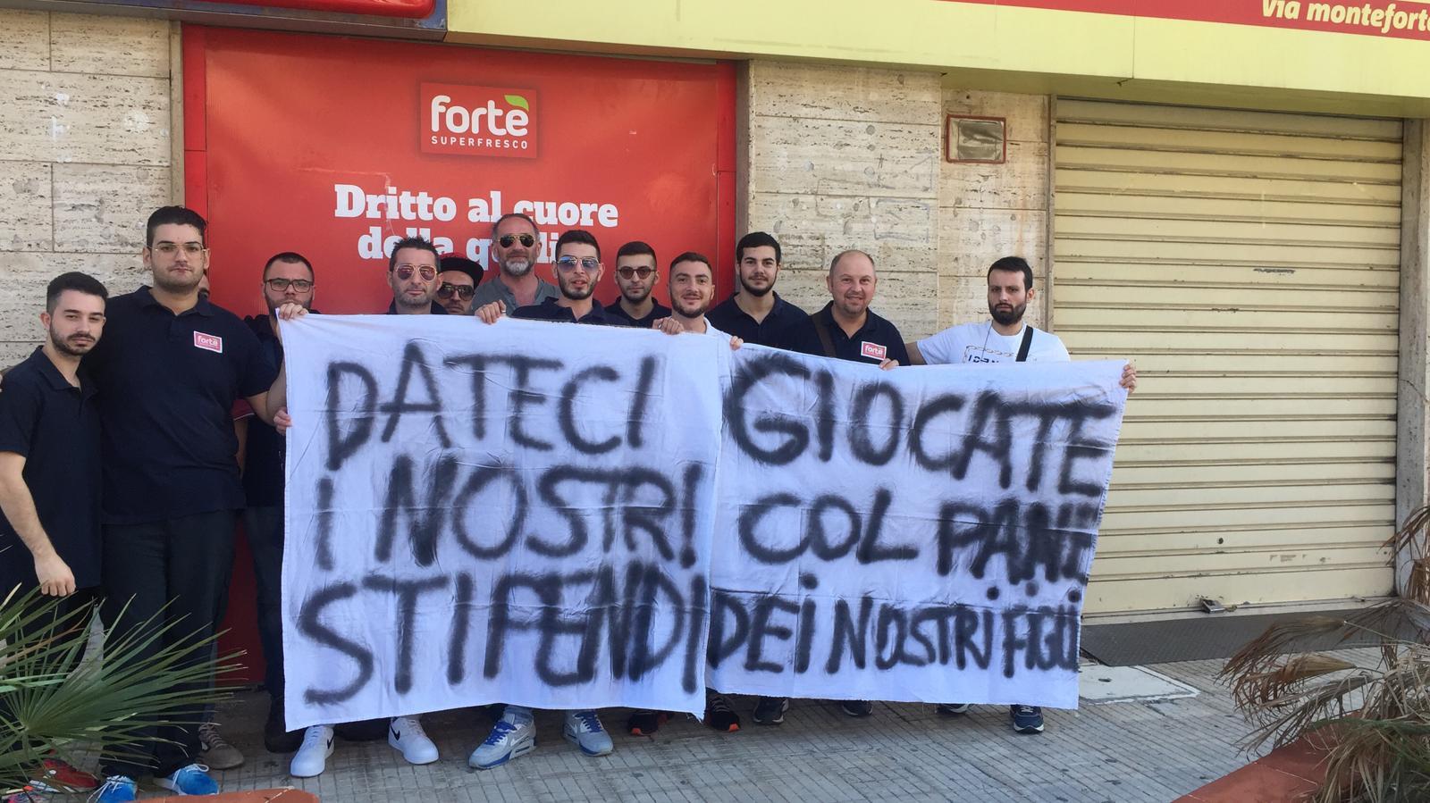Niente stipendi, sciopero nei punti vendita Fortè di Siracusa, Noto, Pachino e Canicattini