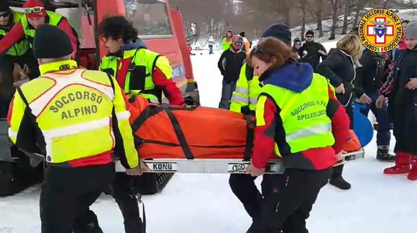 Tre persone restano ferite sulla neve a Piano Battaglia