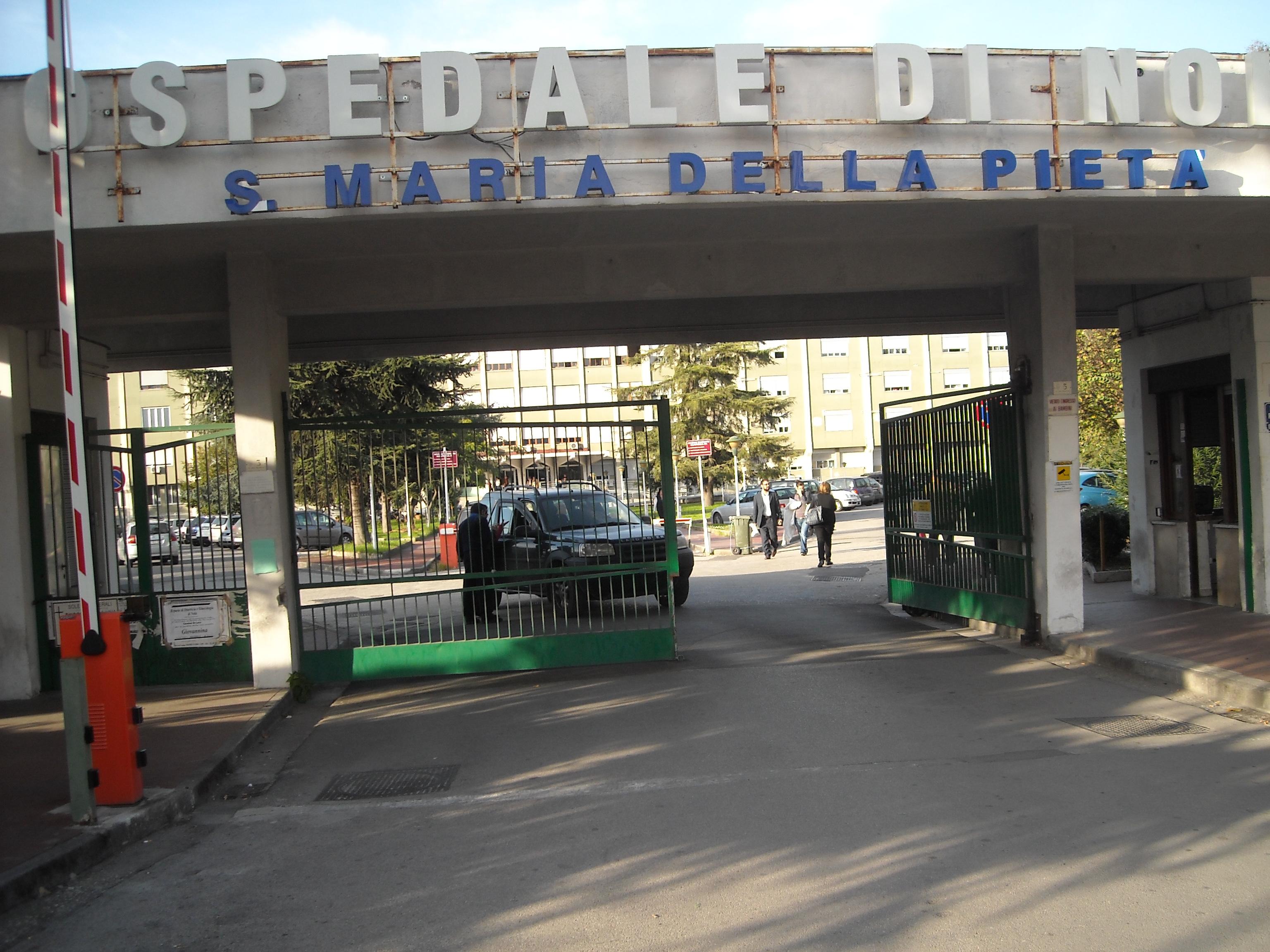 Raid nella notte all'ospedale di Nola: uffici a soqquadro