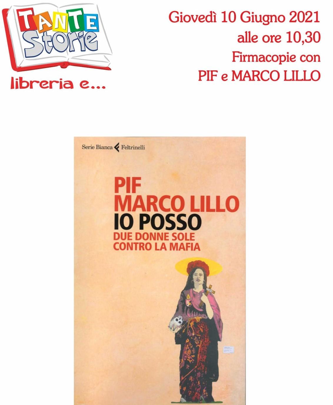 """Palermo,il romanzo """"Io posso"""": firmacopie con Pif e Marco Lillo alla Libreria Tante Storie"""