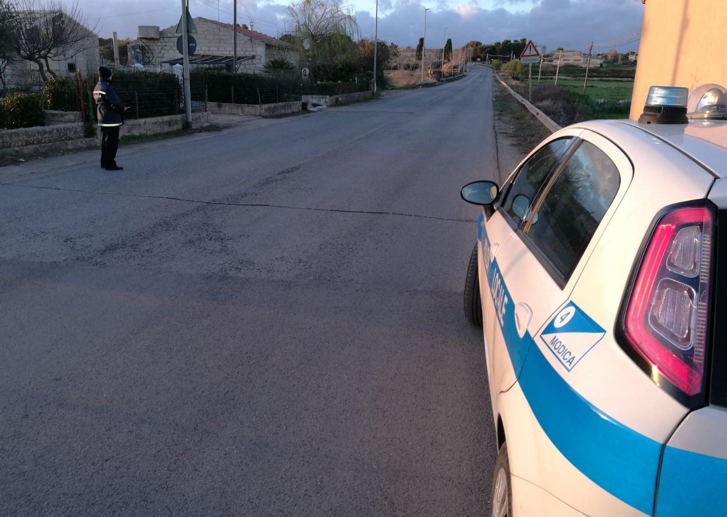 Polizia locale, effettuati controlli interforze nel territorio di Ispica