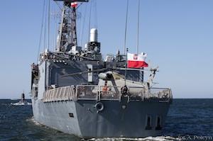 Fregata missilistica polacca il 13 luglio nel porto di Augusta