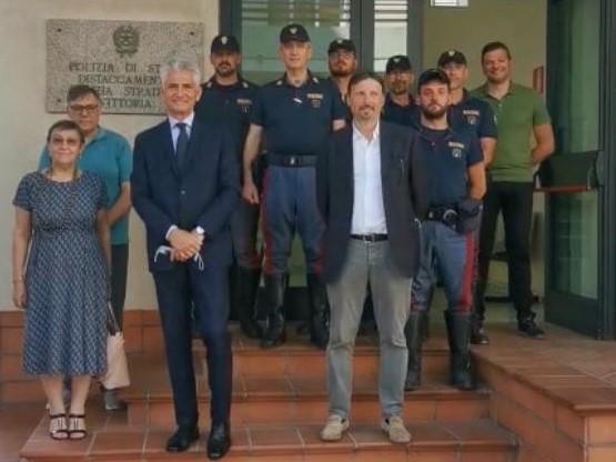 Vittoria, la Commissione straordinaria incontra gli uomini della Polstrada