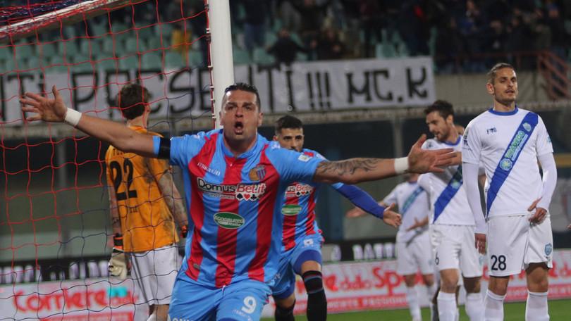 Catania determinato e convicente batte il Matera con un gol per tempo