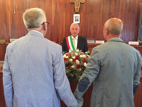 Prima unione civile a San Giovanni La Punta, Francesco e Lorenzo sposi