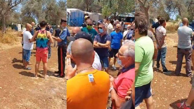 Siracusa, monta la protesta a Cassibile contro la baraccopoli di migranti