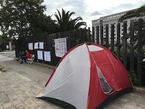 """Siracusa, la protesta delle guardie giurate del tribunale: """"Intervenga sindaco e prefetto"""""""