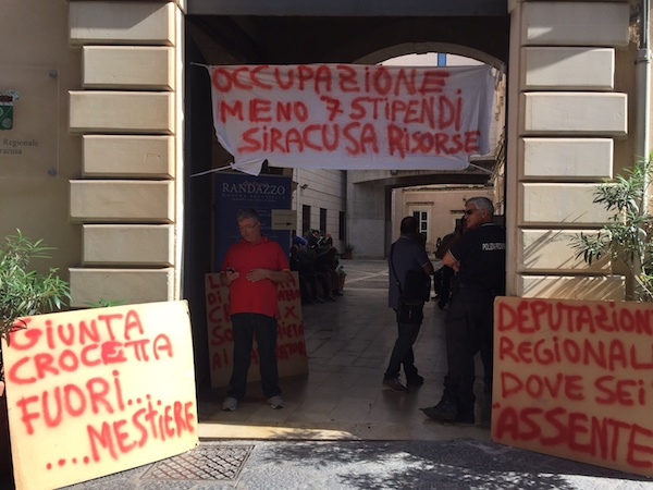 Siracusa Risorse ed ex Provincia, la vertenza si sposta a Palermo
