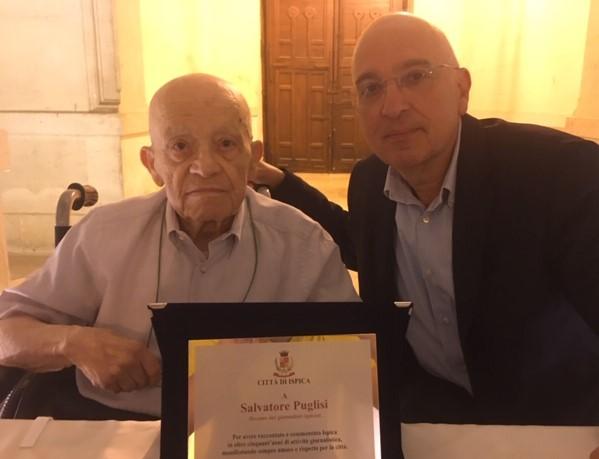 Ispica, riconoscimento della città a Salvatore Puglisi decano dei giornalisti locali