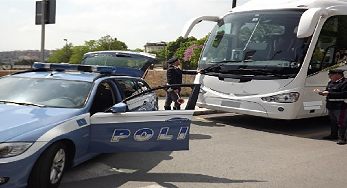 """Polizia stradale di Ragusa, campagna di sicurezza """"Truck & bus"""""""