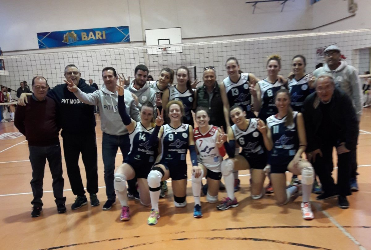"Volley, B2 donne: la Pvt Modica ""sbanca"" Bari e rimane in vetta (3 a 0)"