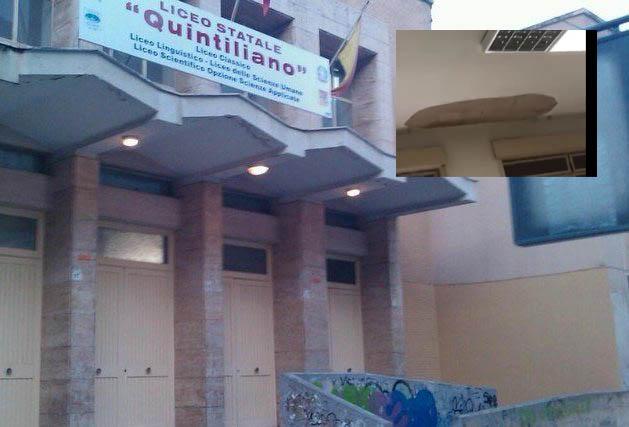 Siracusa, crollo controsoffitto al liceo Quintiliano, due studentesse lievemente ferite