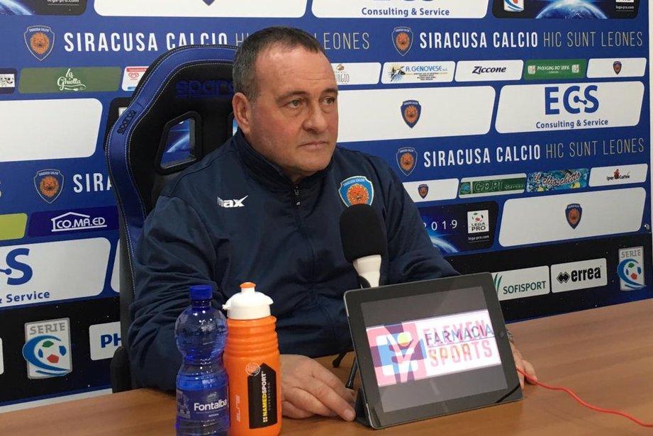 """Il Siracusa in trasferta a Bisceglie, Raciti: """" Per noi sono tutte finali"""""""