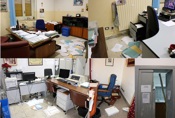 Raid al comune di Rosolini, 3 computer recuperati: in fuga i responsabili