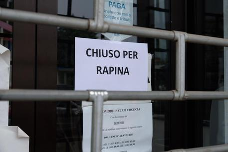 Rapina all'Aci di Cosenza, bottino superiore a 10 mila euro