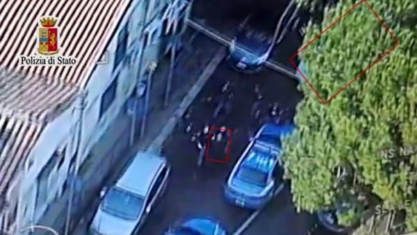Boccadifalco, tentato colpo in banca: l'arresto dei rapinatori ripreso dall'elicottero